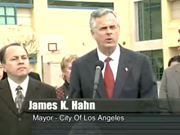 Photo of L.A. Mayor Press Conference